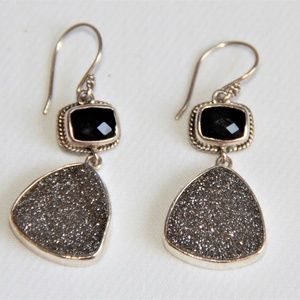Lori Bonn Sterling Silver Black Onyx Earrings